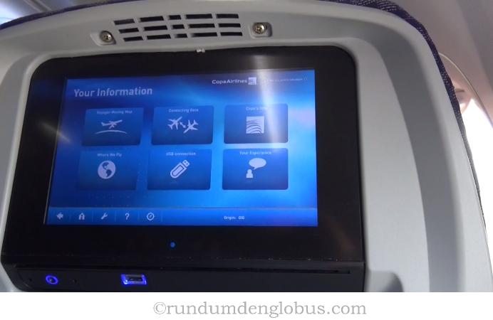 Monitor für Passagiere Boeing 737-800 Copa Airlines