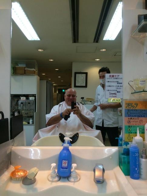 Kurzvisite beim Friseur