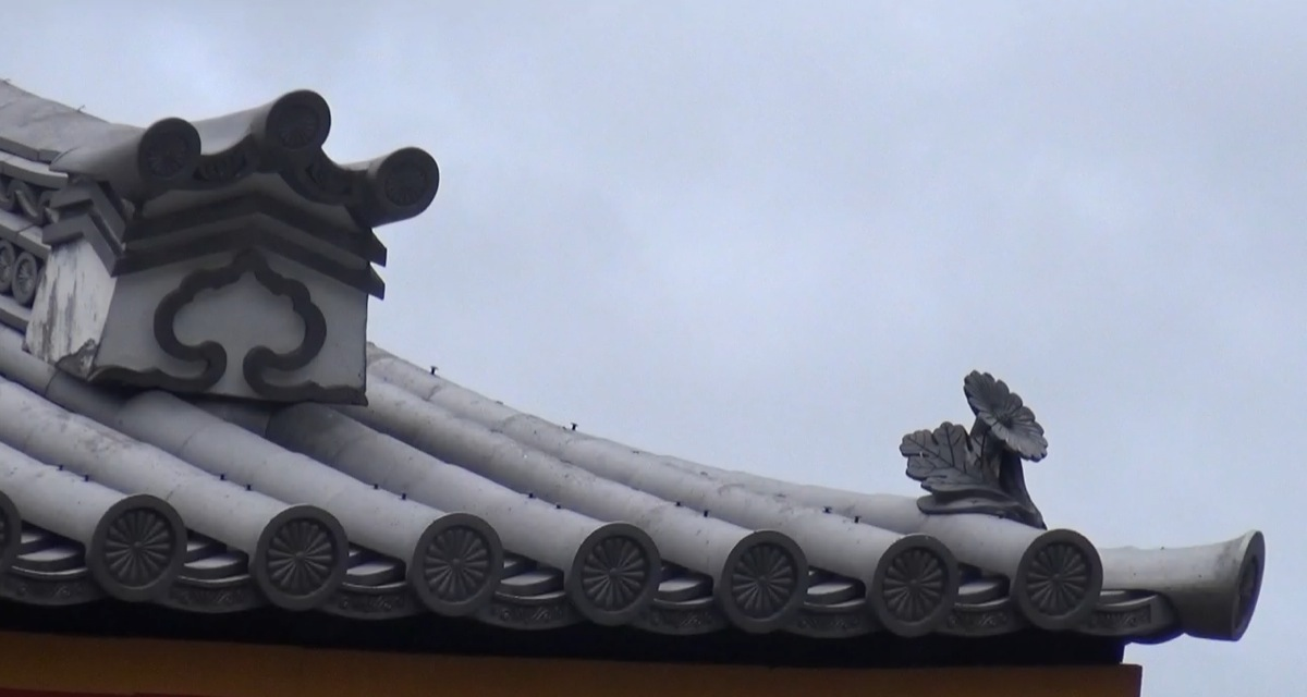 ornaments on the roof