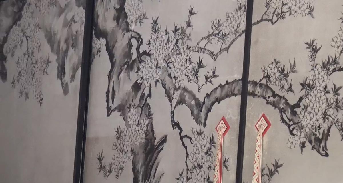 Wandmalerei Kaiserlicher Palast Kyoto