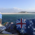 Angler an der V-Wall Nambucca Heads NSW