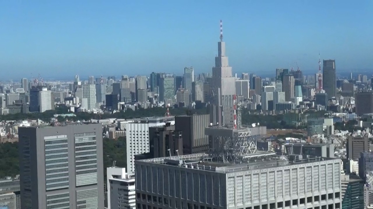 the center of Tokyo from the Tokyo Metropolitan Government Building