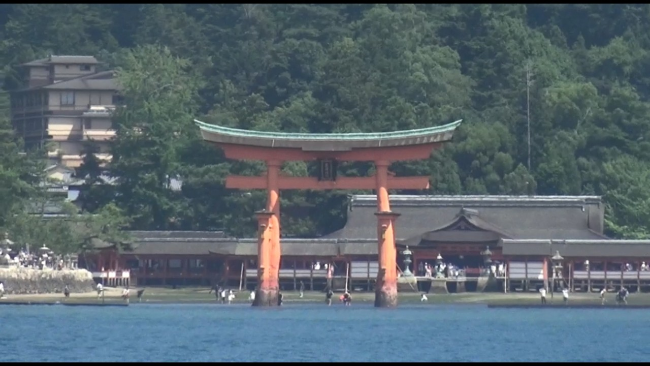 The Gate (Torii) and the Itsukushima Shrine