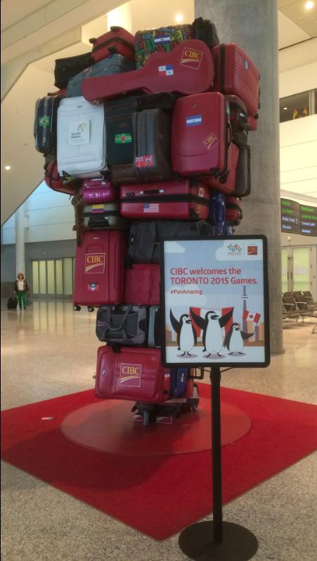 on Airport Koffer Skulptur