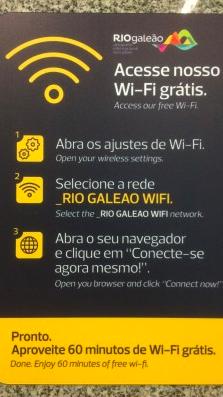 Hinweistafel Gratis Wifi _RIO GELEAO WIFI