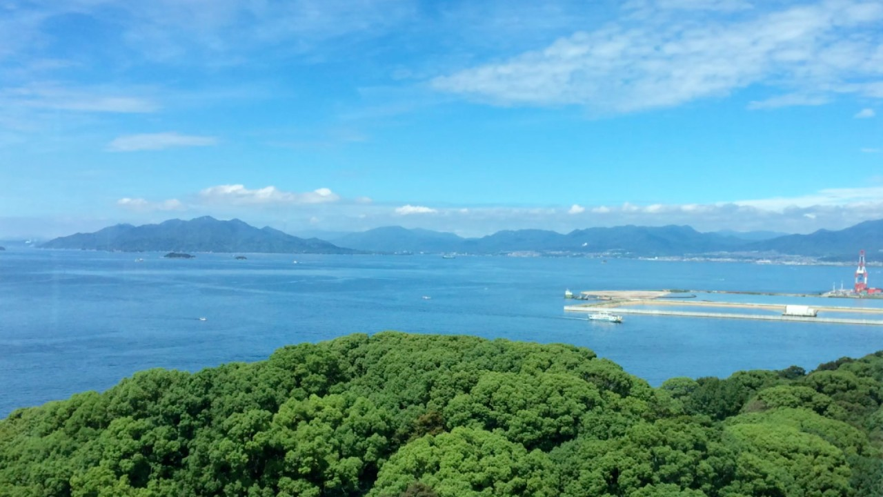 Hiroshima Bay to the west