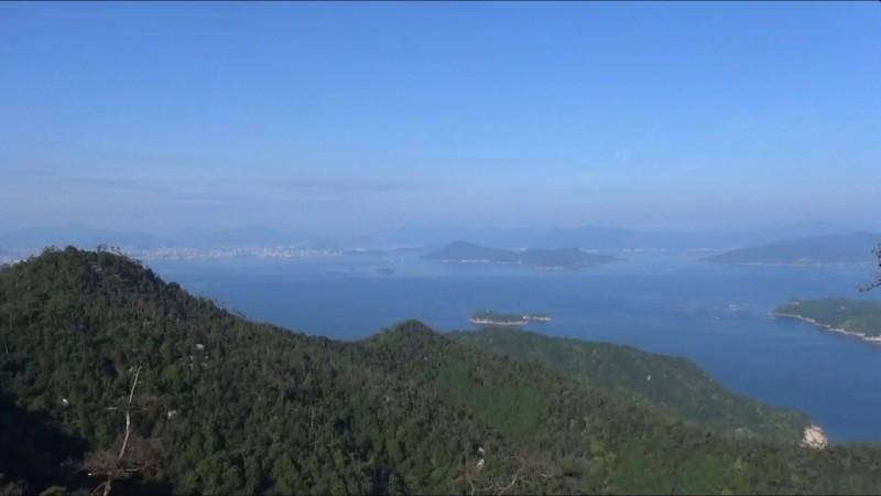 Blick über die Hiroshima Bay von Miyajima